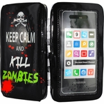 Keep Calm Kill Zombies Phone Wristlet Clutch Wallet