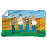 King of the Hill by the Fence Fleece Blanket