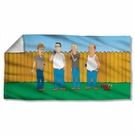 King of the Hill by the Fence Towel