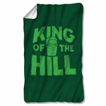 King of the Hill in Grass Fleece Blanket