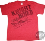Knight Rider Grid Askew T-Shirt Sheer