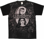 Labyrinth Maze Oval Frame Sublimated T Shirt Sheer