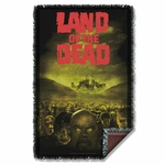 Land of the Dead Poster Throw Blanket