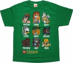 Lego Chima Characteristics Youth T Shirt