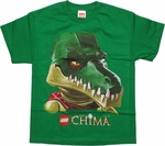 Lego Chima Cragger Head Green Youth T Shirt