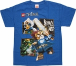 Lego Chima Group Box Blue Youth T Shirt