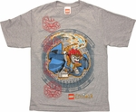 Lego Chima Laval Circle Youth T Shirt