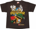 Lego Chima Unleash Power Brown Juvenile T Shirt