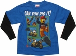 Lego City Construct Dig It Long Sleeve Juvenile T Shirt