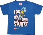 Lego City Own Stunts Blue Juvenile T Shirt