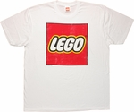 Lego Distressed Logo On White T Shirt Sheer