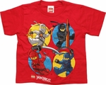 Lego Ninjago Action Circles Red Juvenile T Shirt