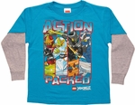 Lego Ninjago Action Packed Long Sleeve Juvenile T Shirt