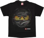 Lego Ninjago Cole Swirl Face Youth T Shirt