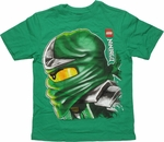 Lego Ninjago Lloyd Profile Green Youth T Shirt