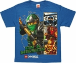 Lego Ninjago On a Mission Youth T Shirt