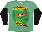 Lego Ninjago Quest Is On Long Sleeve Juvenile T Shirt