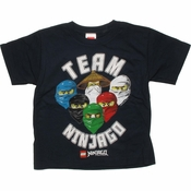 Lego Ninjago Team Heads Juvenile T Shirt
