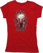 Lenore Coffin Red Baby Tee