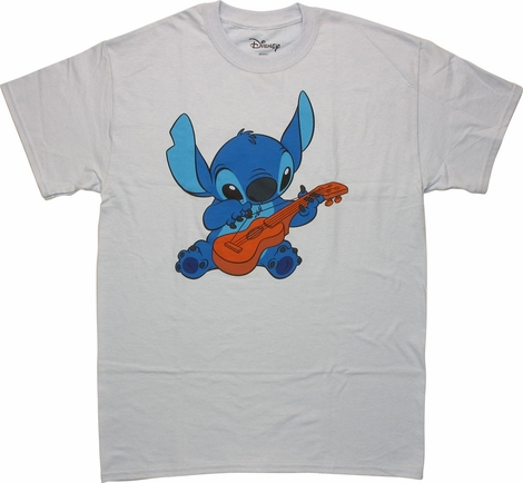 Lilo and Stitch Plucking Guitar Stitch T-Shirt