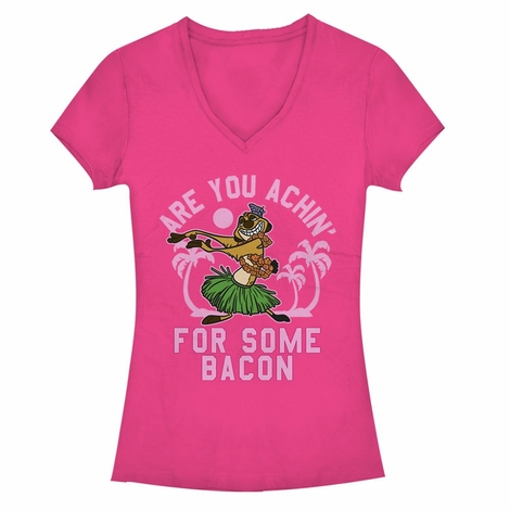 Lion King Achin Bacon V Neck Juniors T-Shirt