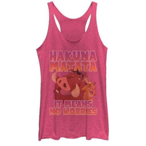 Lion King Hakuna Trio Tank Top Juniors T-Shirt