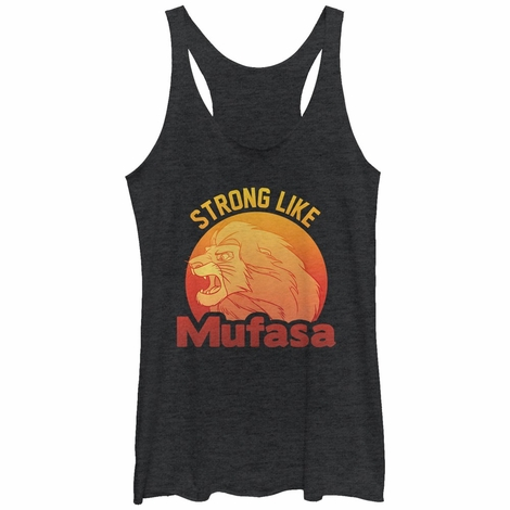 Lion King Strong Mufasa Tank Top Juniors T-Shirt