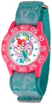 Little Mermaid Ariel Kids Plastic Blue Pink Watch