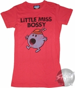 Little Miss Bossy Distressed Baby Tee