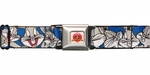 Looney Tunes Bugs Bunny Faces Blue Seatbelt Belt