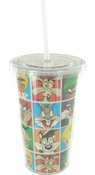 Looney Tunes Character Grid Travel Cup