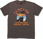 Looney Tunes Daffy Sarcasm Service I Offer T-Shirt