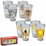 Looney Tunes Heads Pint Glass Set