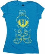 Looney Tunes Marvin Yellow Line Art Baby Tee