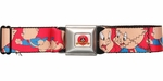 Looney Tunes Porky Pig Expressions Red Seatbelt Mesh Belt