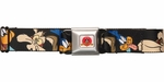 Looney Tunes Road Runner Coyote Face Seatbelt Belt