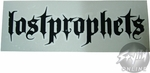Lostprophets Name Black Decal
