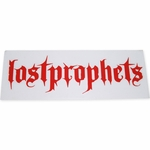 Lostprophets Name Red Decal