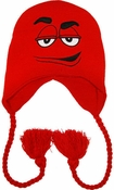 M and M Red Lapland Beanie