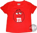 M and M Red Toddler T-Shirt