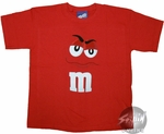 M and M Red Youth T-Shirt