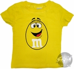 M and M Yellow Toddler T-Shirt
