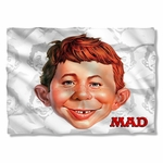 Mad Magazine Alfred Head Pillow Case