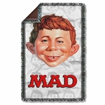 Mad Magazine Alfred Head Throw Blanket