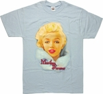 Marilyn Monroe Face Fur Blue T-Shirt