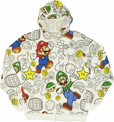 Mario Friends Outline Hoodie