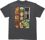 Mario Super Mario Retro Set T Shirt