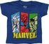 Marvel Bars Over Name Blue Toddler T Shirt
