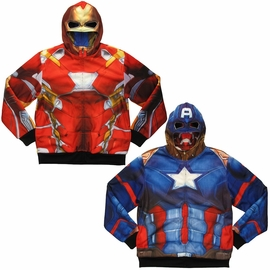 Marvel Captain America Iron Man Reversible Hoodie