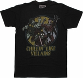 Marvel Chillin Like Villains T Shirt Sheer